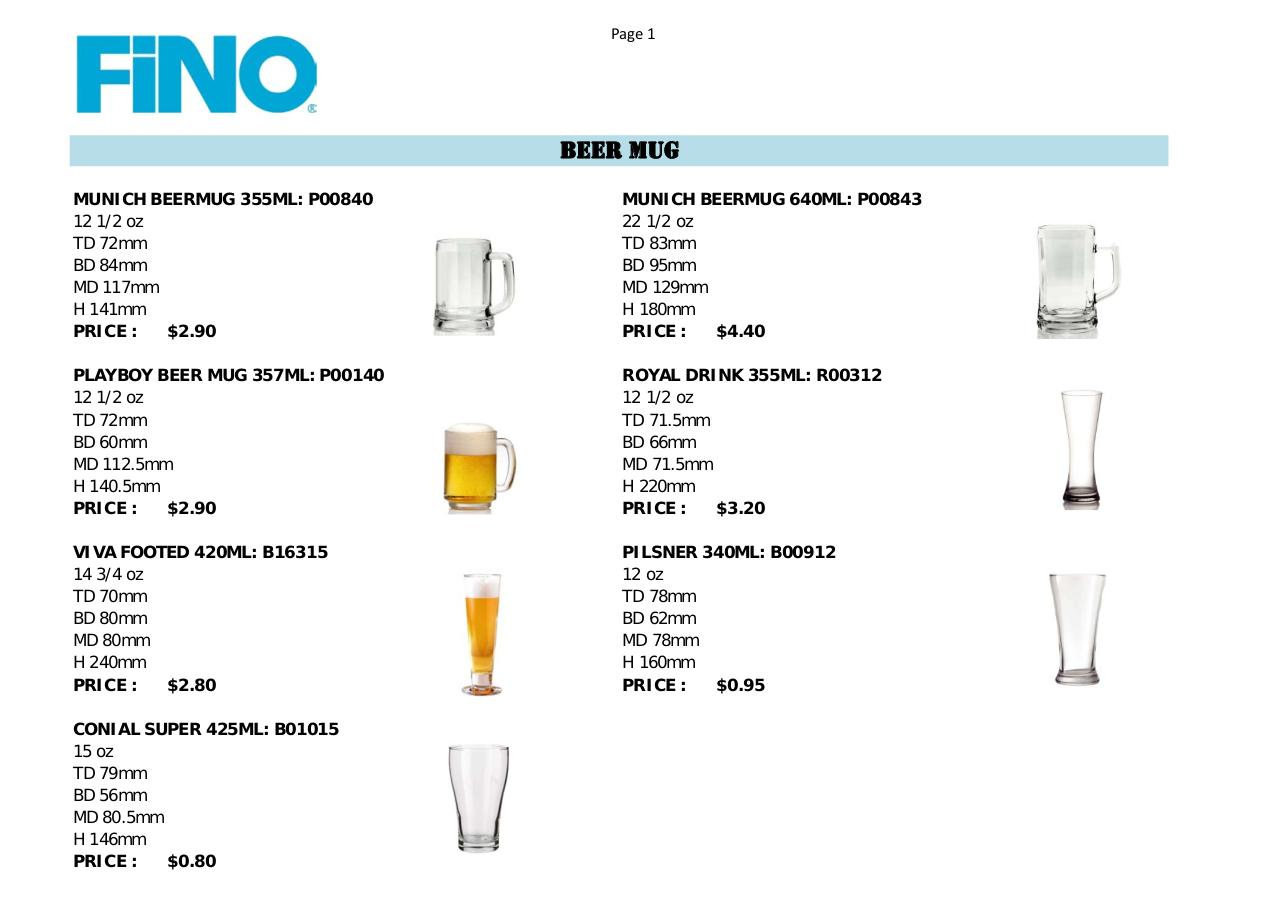 Price List OCEAN GLASS.pdf - page 1/10