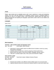 cv cyril lescop english