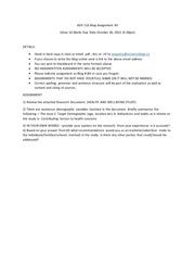 blog assignmnet 3