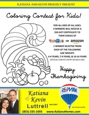 coloring contest flyer bleed