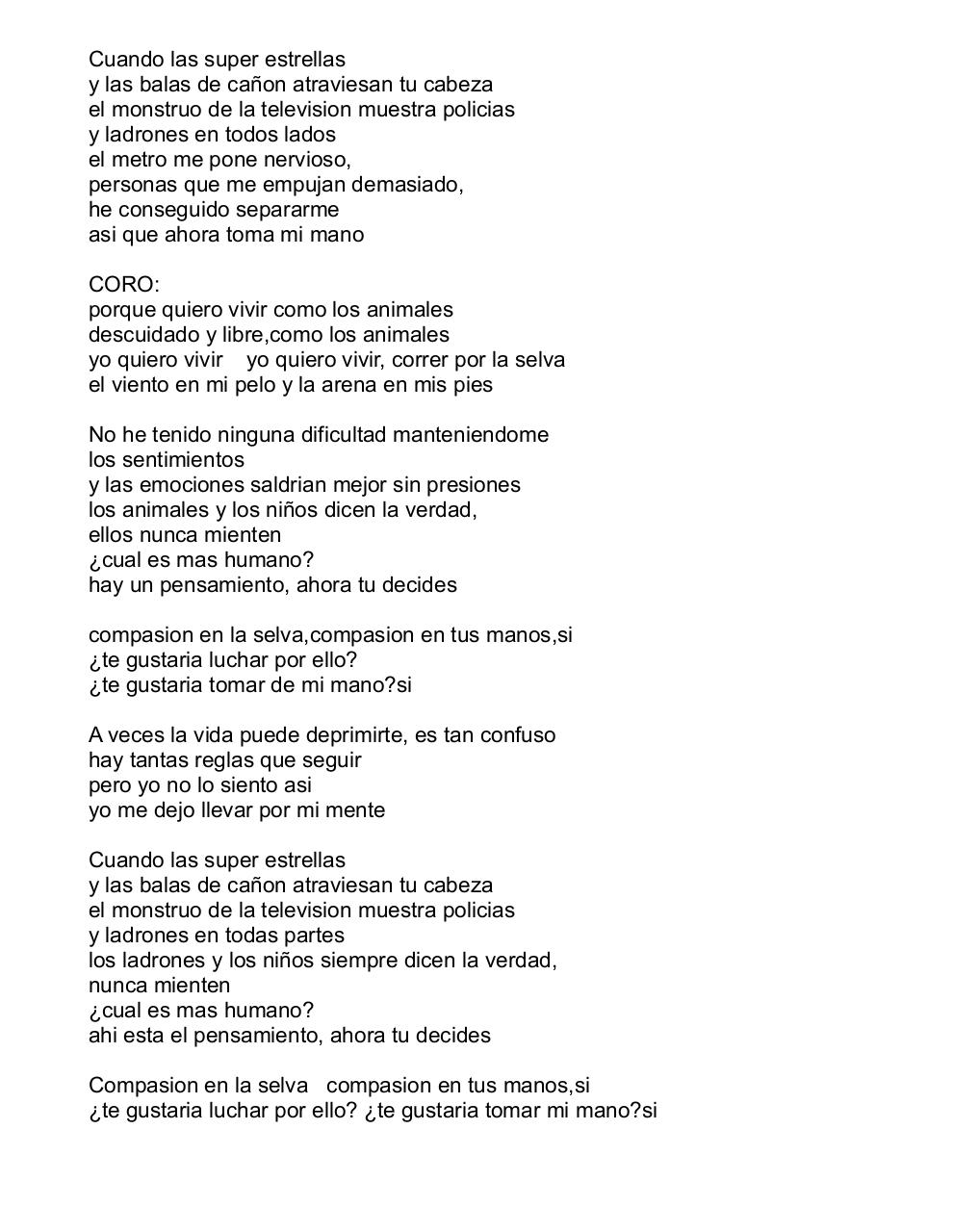 Document preview savage garden animal ESPANOL INGLES.pdf - page 2/2