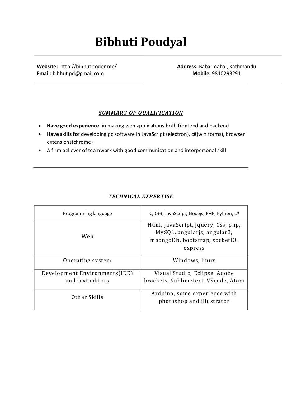 resume by BIB HUTI - PDF Archive