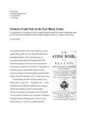 kai chang from le code noir to the new black codes