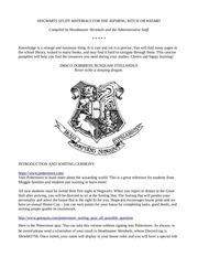 hogwarts study materials