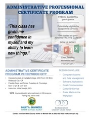 hsa admin certificate program flyer final