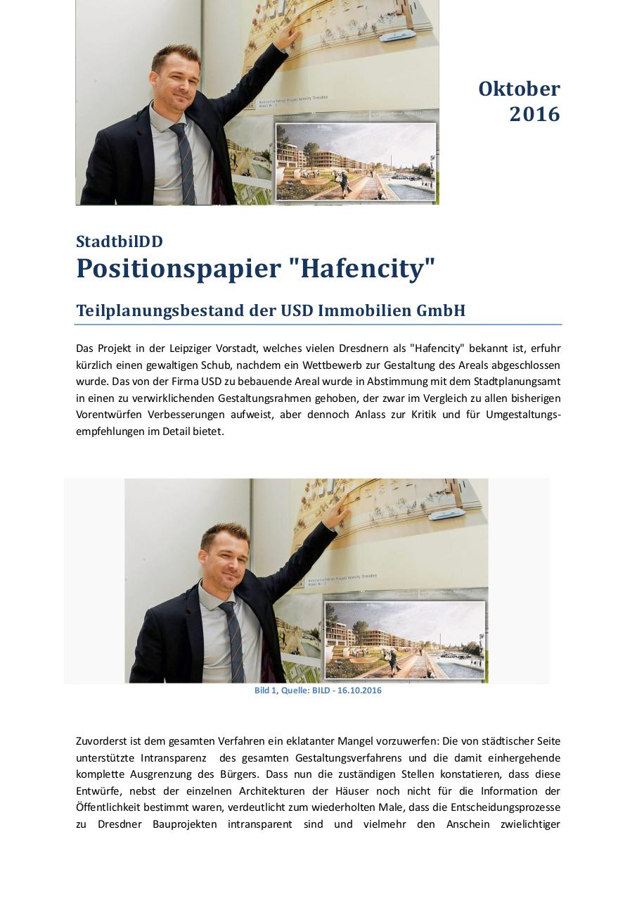 Document preview Positionspapier Hafencity.pdf - page 1/5