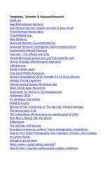 PDF Document templates