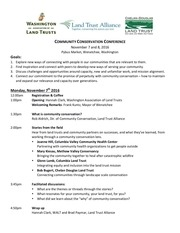 community conservation conference program