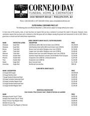 vault price list 11 4 2016