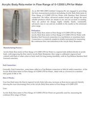 acrylic body rota meter