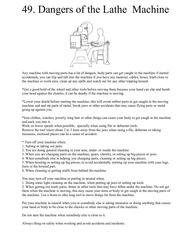 49 dangers of the lathe machine