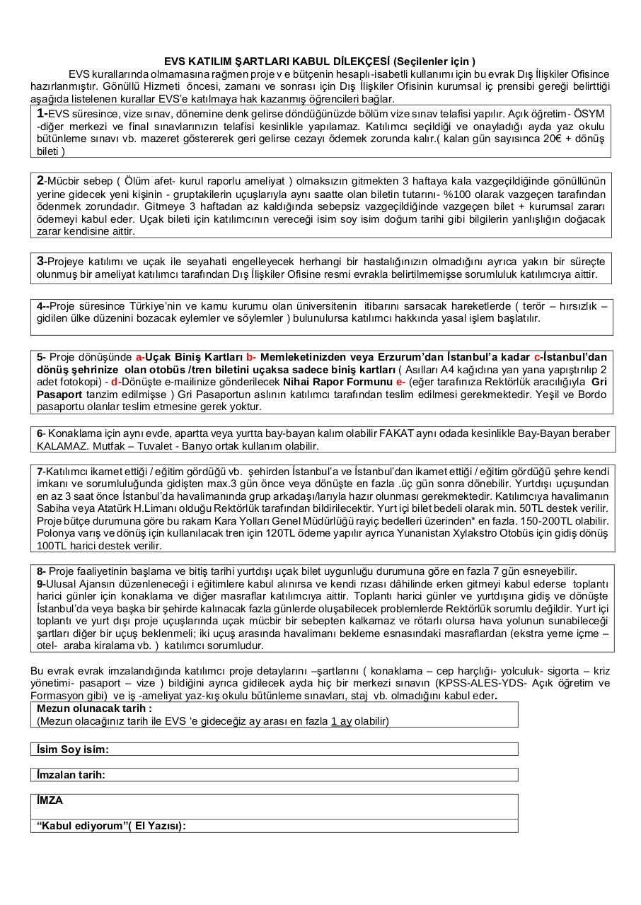 Document preview EVS DİLEKÇE.pdf - page 1/1