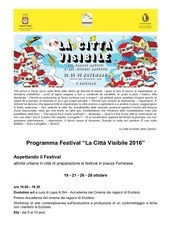 programma festival la citta visibile 2016