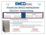 ameristar heating season pricing