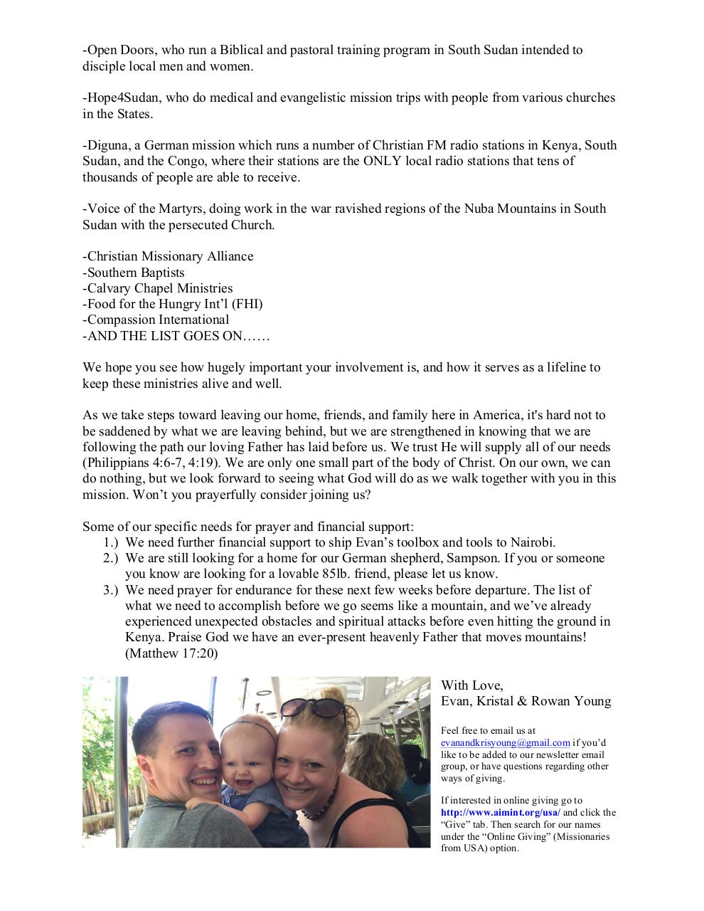 Document preview Young Family Update Nov. 8, 16 - PDF.pdf - page 2/2