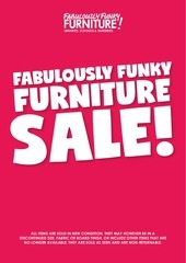 fabulously funky furniture november sale