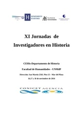 programa xi jornadas de investigadores en historia