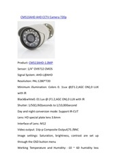 PDF Document cm513ahd ahd cctv camera 720p