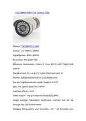 cm513ahd ahd cctv camera 720p