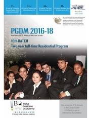 pgdm admission brochure 2016 18