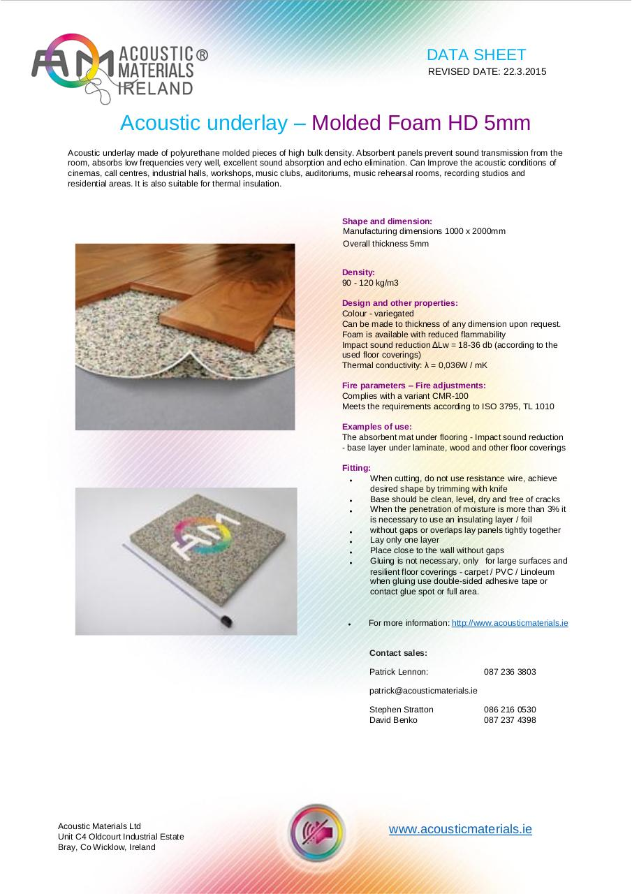 Document preview ACOUSTIC UNDERLAY 5mm-3.pdf - page 1/1