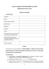 PDF Document concorso fotografico modulo di iscrizione all reg