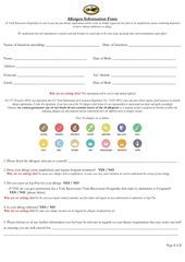 PDF Document allergen form