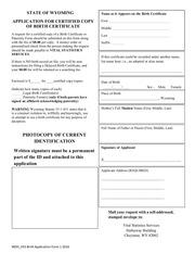 birth application form 1c 2016