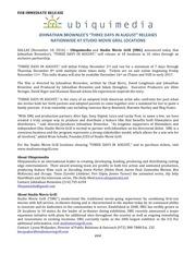 press release threedaysin august theatricalrelease final