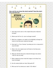 PDF Document stock market quiz draft