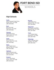 fort bend school information
