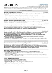 jan klug resume 2 pager