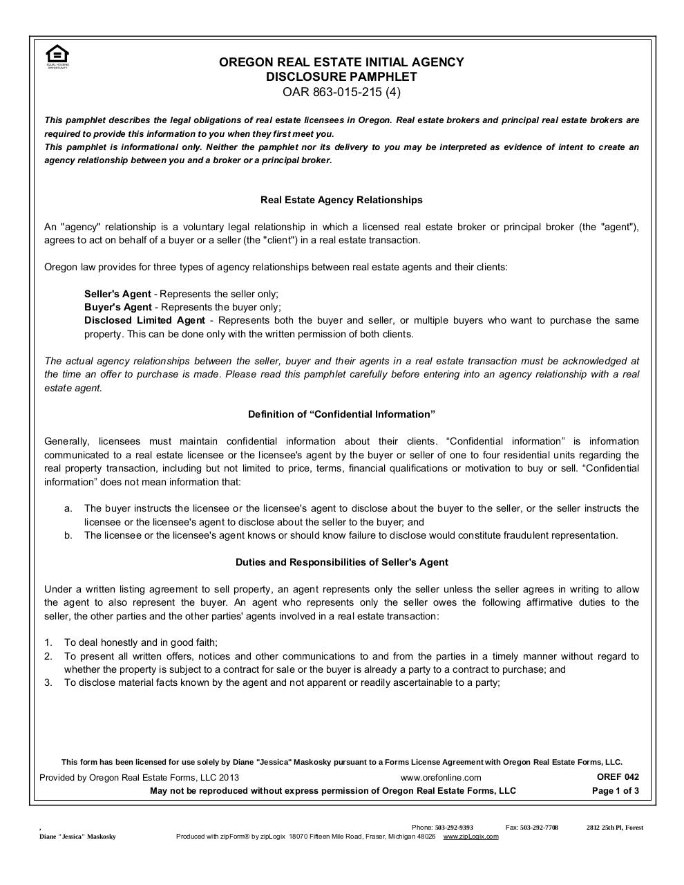 OR Agency Disclosure Pamphlet.pdf - page 1/3