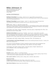 mike johnson jr resume