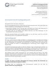 info forschungsprojekt uni go ttingen