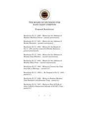 ecc proposed resolutions