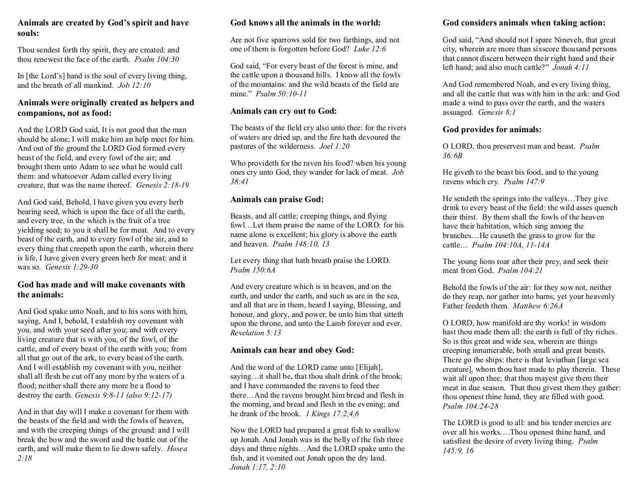What Does the Bible Say About Animals.pdf - page 1/2