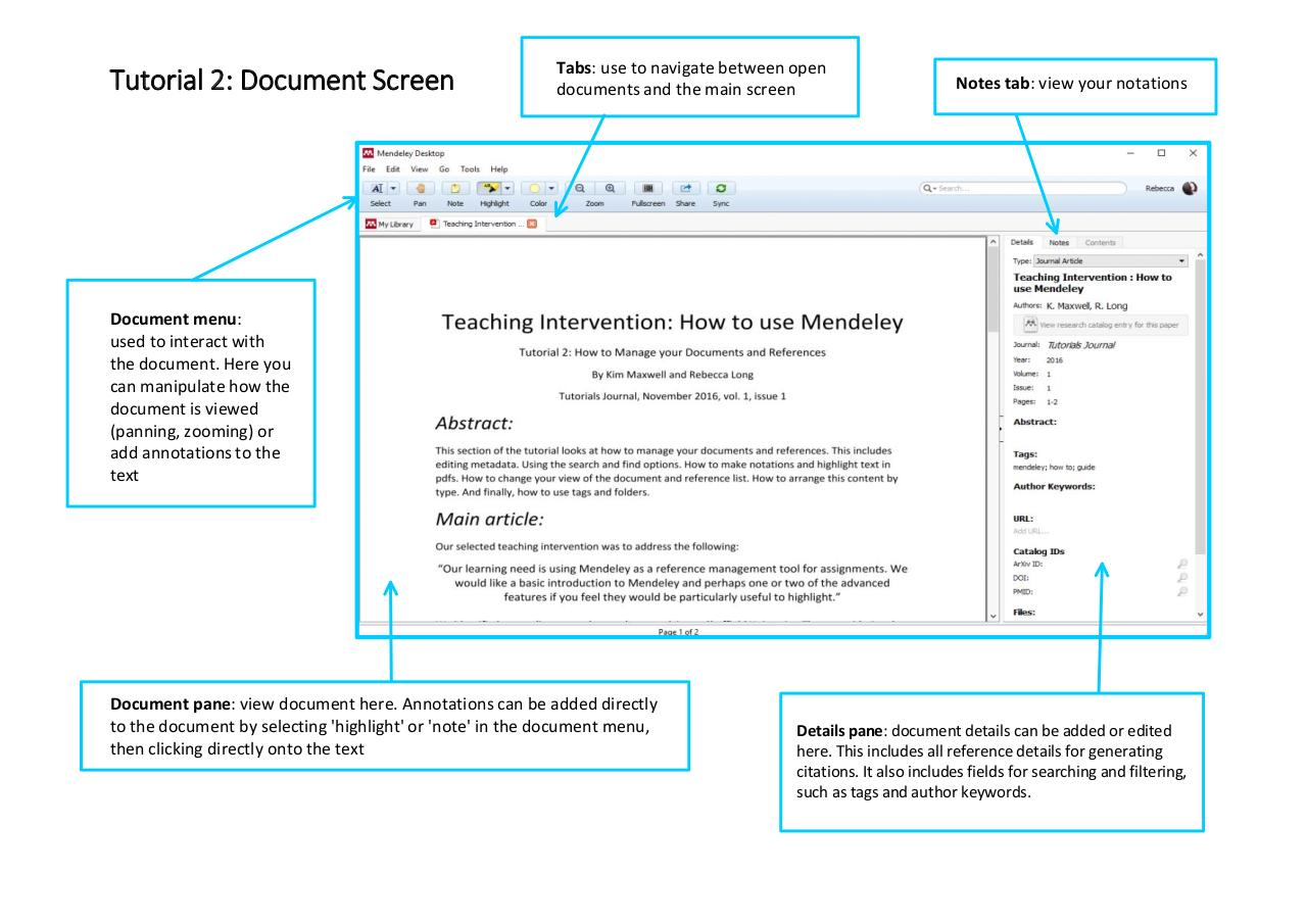 Document preview Mendeley Tutorial 2 - How to manage documents and references.pdf - page 3/5