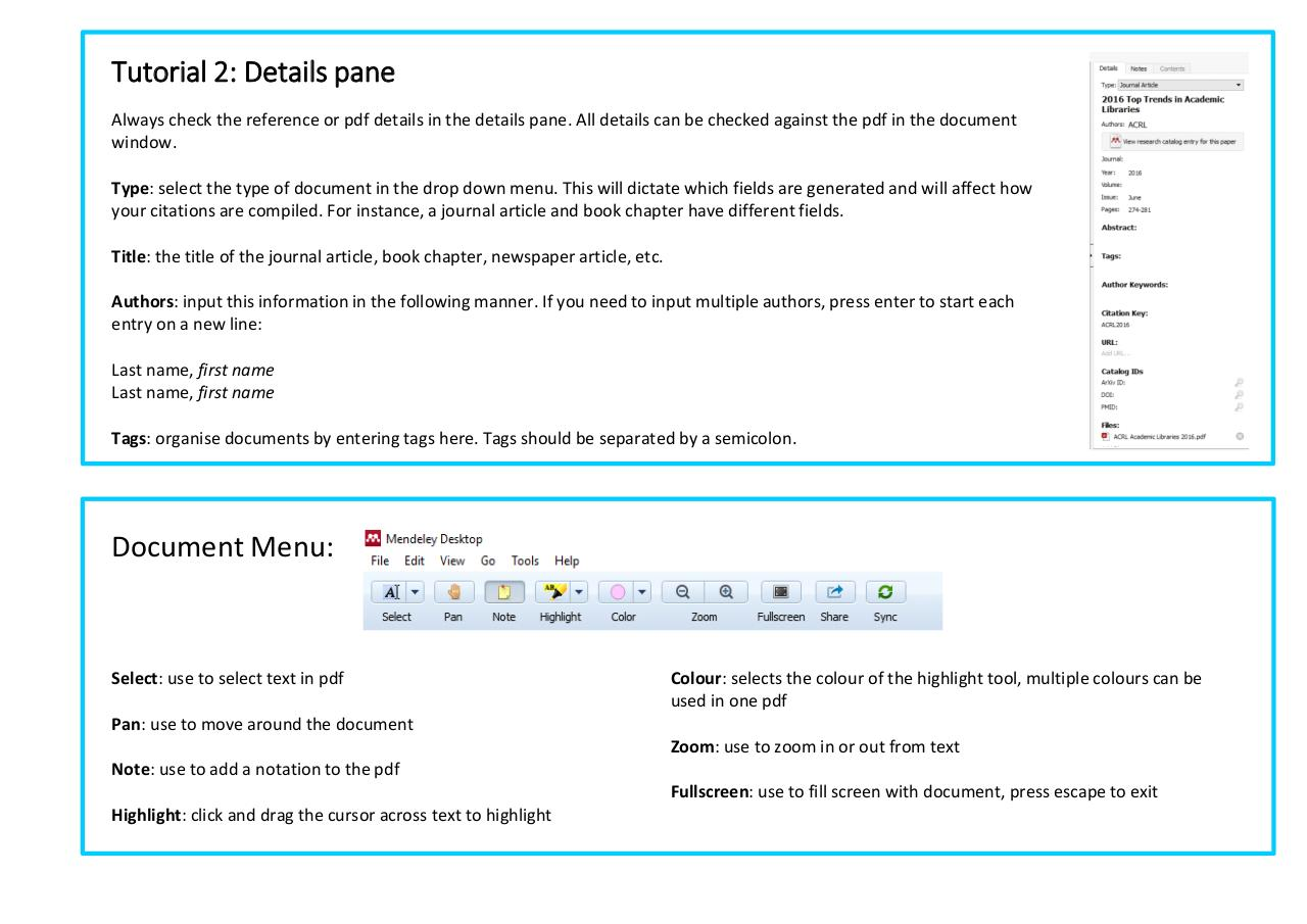 Document preview Mendeley Tutorial 2 - How to manage documents and references.pdf - page 4/5