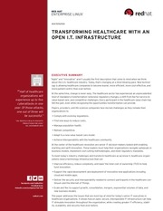 red hat white paper transforming healthcare