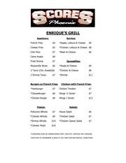 scores enrique s menu