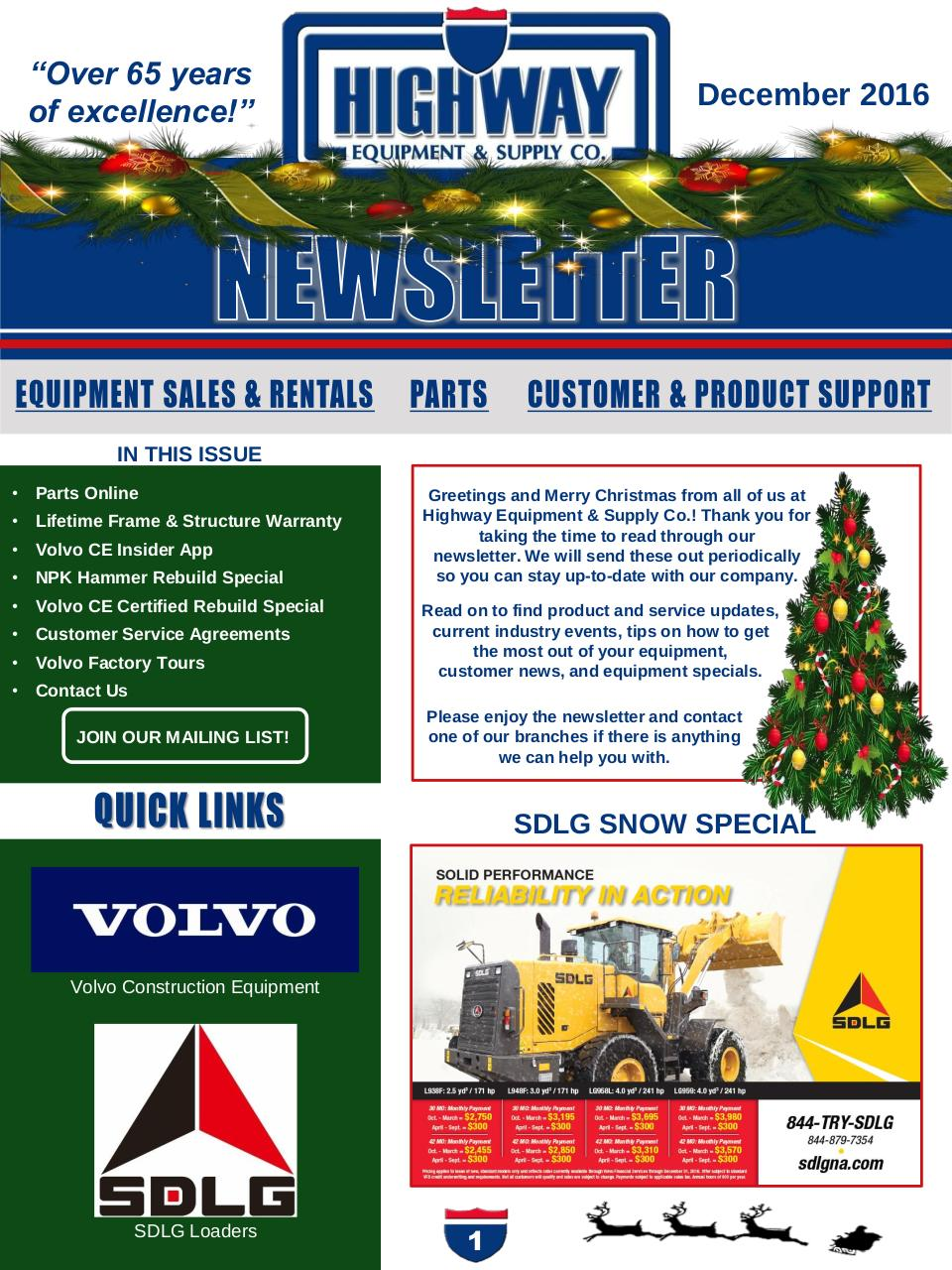 2016-12 Customer Newsletter.pdf - page 1/6