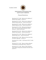 ecc proposed resolutions november 30