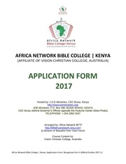 applicationafrica network bible college kenya2017final