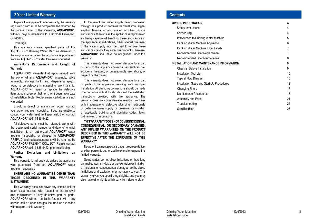 aquaphor installation guide dwm101 - PDF Archive