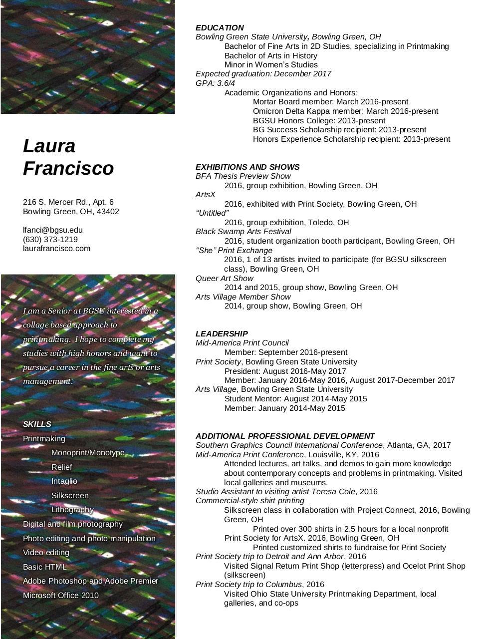 Artist Resume 2016 By Usuario De Microsoft Office Pdf Archive