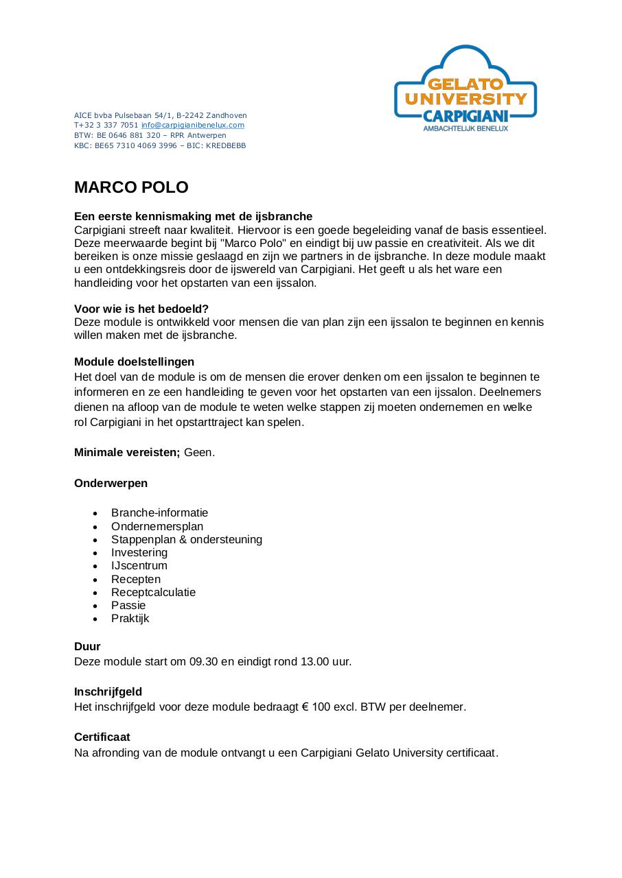 Document preview MARCO POLO omschrijving Belgie.pdf - page 1/1