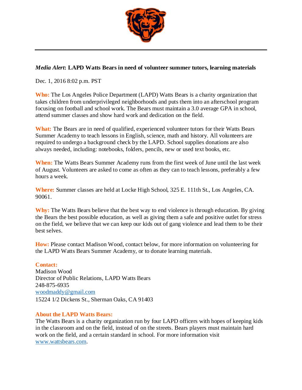 Document preview Media Advisory Final Project.pdf - page 1/1