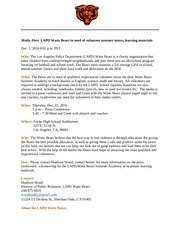 media advisory final project