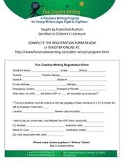 standard registration form